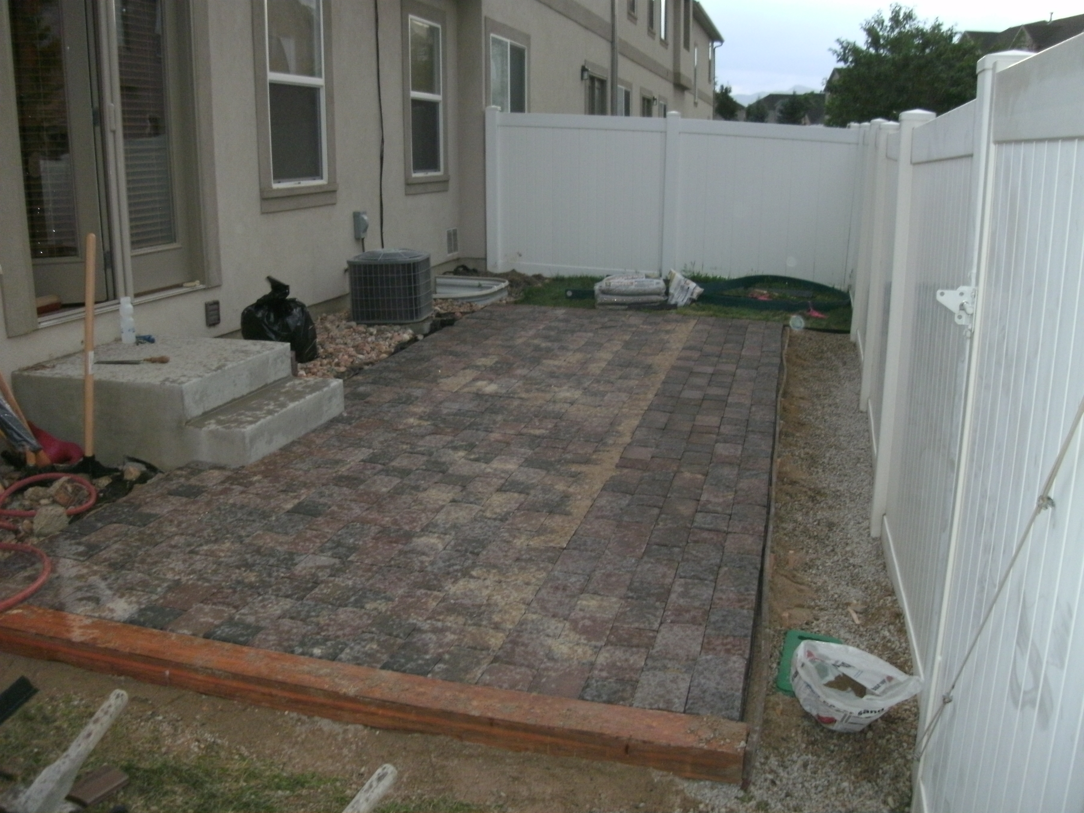 Paver patio project pleted